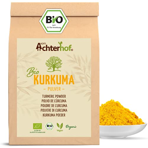 Bio Kurkuma Pulver 500g Kurkumawurzel gemahlen als Gewürz für Paste oder Curcuma Latte natürlich...