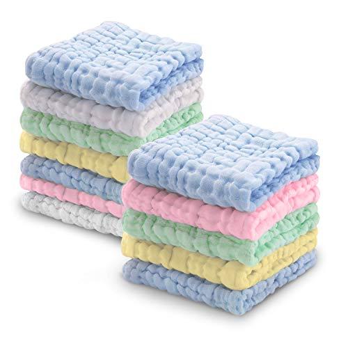 Softan Baby Waschlappen Set, Handtuch 100% Musselin Baumwolle, Baby Geschenk für Neugeborene, 30 x...