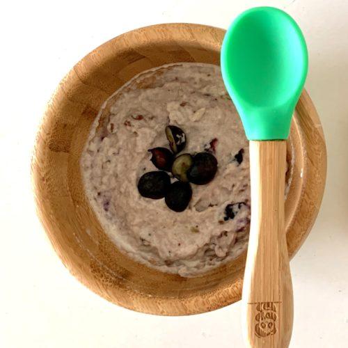 Breifrei BLW Frühstück Idee Haferflocken ab 6 Monate Beikostreife
