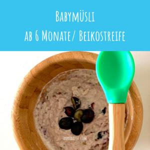 Rezept Babymüsli Breifrei BLW Frühstück Haferflocken ab 6 Monate